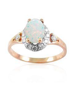 Золотое кольцо с опалом «Evergreen»