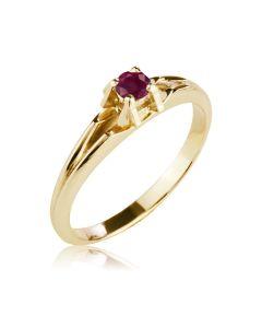 Кольцо золотое с рубином «Aloha»