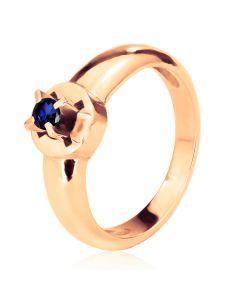 Кольцо помолвочное из золота с сапфиром «Storks»