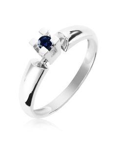 Золотое кольцо с сапфиром «Alonsa»