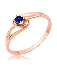 Золотое кольцо с сапфиром 0,2 Сt «Шейла»