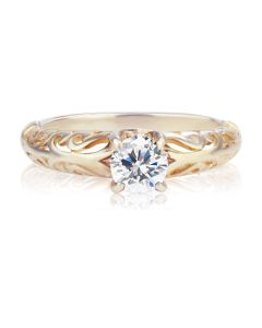Ажурное золотое кольцо с Сваровски «Vintage»