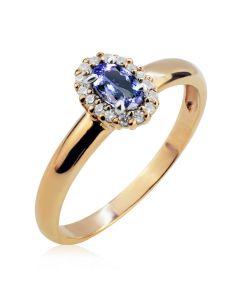 Кольцо на помолвку c танзанитом «Candy»