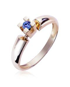 Золотое кольцо с танзанитом «Alonsa»