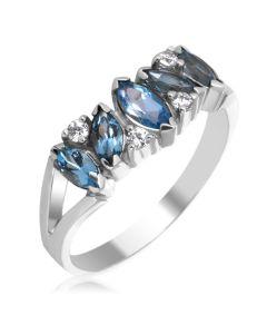Золоте кольцо доріжка з топазами «Кімберлі»