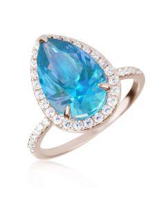 Эксклюзивное кольцо с каплевидным топазом «Доротея»