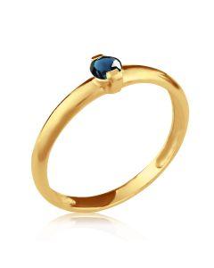 Золотое кольцо с сапфирами купить