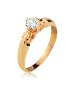 Кольцо золотое на помолвку с белым сапфиром «Ангелина»