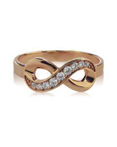 Каблучка з діамантами і знаком нескінченність «Infinity»
