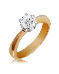 Класична каблучка для заручин з діамантом 0.5 карат «Мрія»