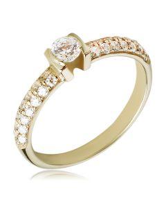 Золотое кольцо в обсыпке Swarovski «El comienzo»