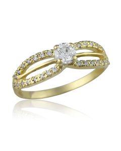 Золотое кольцо на помолвку цена