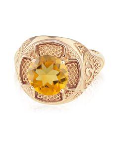 Мужской перстень с цитрином «Константа»