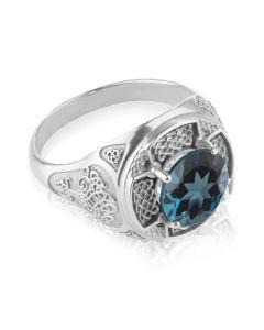 Мужской перстень с топазом Лондон «Константа»