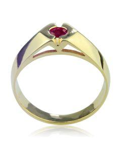 Золотий чоловічий перстень «Магічний рубін»
