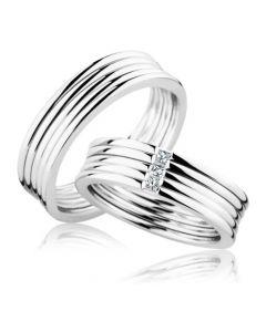 Парные обручальные кольца с бриллиантами «Италия»