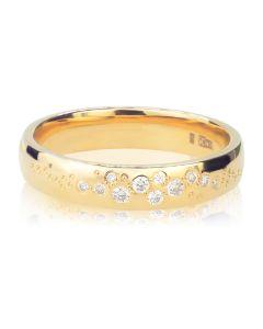 Ексклюзивна весільна каблучка з діамантами «Fedelta»