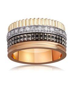 Широка обручка в стилі Boucheron з діамантами «VIP»
