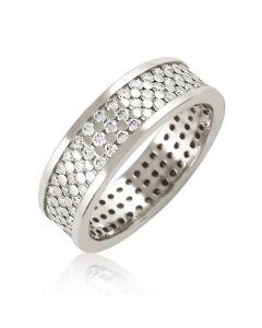 """Золотое обручальное кольцо с бриллиантами """"Ideal wedding"""""""
