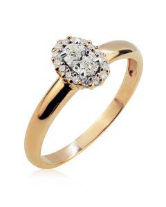 Эксклюзивное кольцо с овальным бриллиантом «Candy»