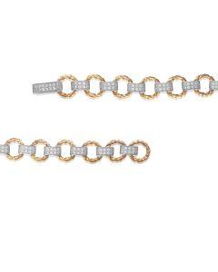 Золотий жіночий браслет «Елен» з цирконієм
