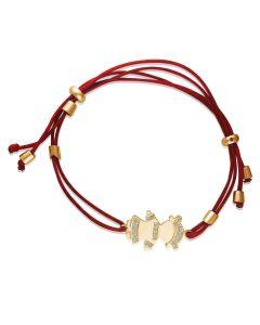 Золотой браслет-шамбала для мамы «Девочка»