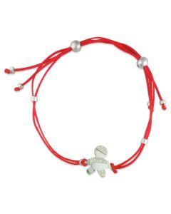 Золотий браслет для мами «Малюк» з червоною ниткою