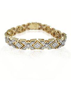 Золотий браслет з цирконієм «Золотий метелик»