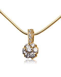 Золотий кулон-квітка з діамантами «Fortunata»