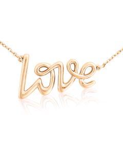 Золотой кулон колье «Love» на цепочке
