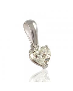 Золотой кулон с бриллиантом в форме сердца