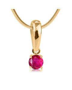 Золотий кулон з одним рубіном «Retba»