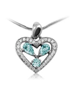 Золотой кулон сердце с топазами «Сердечко мое»