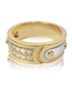 Золотий чоловічий перстень з діамантами «Albert»