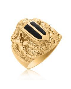 Золотой перстень с эмалью и гербом