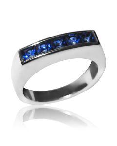 Золотой мужской перстень с сапфирами «Марк»