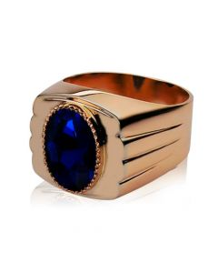 Золотий чоловічий перстень з сапфіром «Іолай»