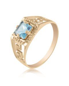 Золотой перстень с топазом
