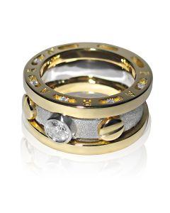Эксклюзивный мужской перстень с бриллиантами «Арагорн»
