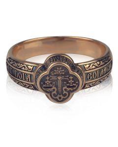 Золотой охранный перстень «Благословение»