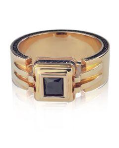 Золотой элитный перстень «Крестный отец»