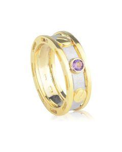 Ексклюзивний чоловічий перстень з аметистом «Арагорн»