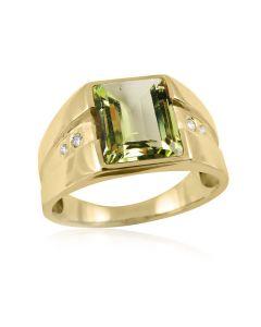 Золотий чоловічий перстень з берилом «LandLord»