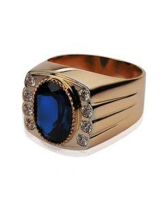Золотий перстень з топазом купити