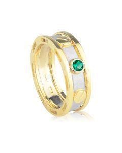 Ексклюзивний чоловічий перстень з смарагдом Барака