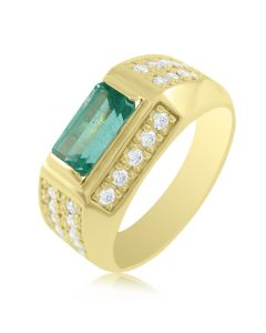 Золотой перстень с изумрудом - 3 Карата