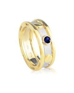 Ексклюзивний чоловічий перстень з сапфіром «Арагорн»