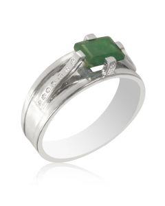 Золотой мужской перстень с изумрудом и бриллиантами