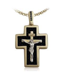 Золотой крест с кожей ската «Quo Vadis»