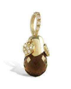 Золотий кулон з раухтопазом «Делікат»